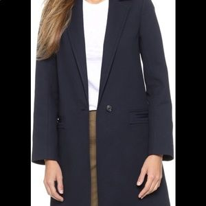 Vince Navy Trench Jacket Size Small